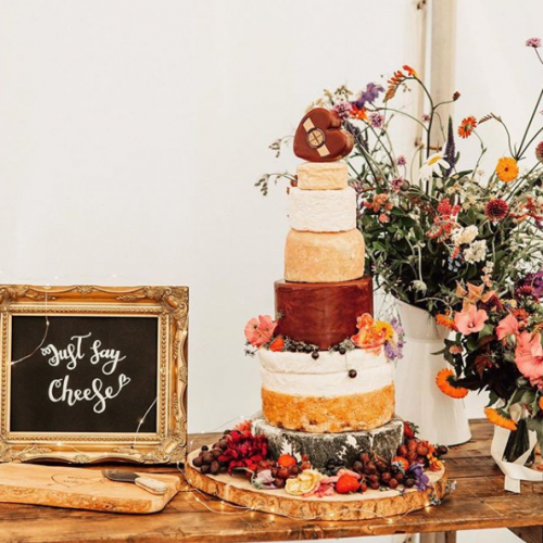 Decorated Cheese Wedding Cake