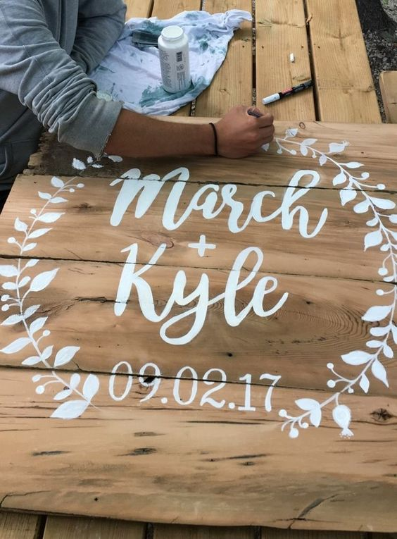 DIY Wedding Signs, Decorations & Crafts