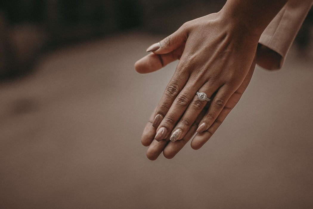 Engagement Ring- Holding Hands